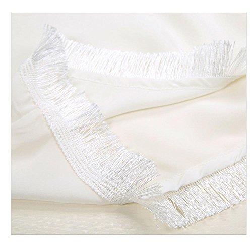 Mhgao Camisa Mujeres White Vestir Las Seda Nueva De rRBqwrZ