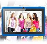 """Our 7"""" Allwinner A33 Quad Core Android Tablet is """"Top of the Line,"""" loaded with features. It has """"rear"""" and """"front"""" cameras, made for taking pictures of the world (not just your face). Also, it has the latest Android 4.4 operating system (OS)..."""