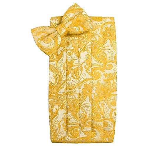 (Men's Tapestry Cummerbund & Bow Tie Set - Many Colors (Tangerine))