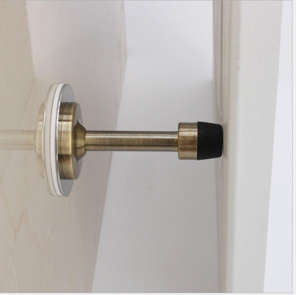 3M Self Adhesive Tape Drill Free Doorstop Wall Mounted Protector SANSUM Wall Door Stops 3 inch Stainless Steel Door Stopper Rubber Bunmpers