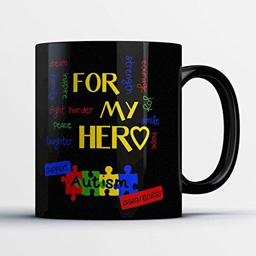 Lymphoma Ceramic Travel Mug (Awareness Coffee Mug - Autism Awareness - Adorable 11 oz Black Ceramic Tea Cup - Cute Awareness Gifts with Awareness Sayings)