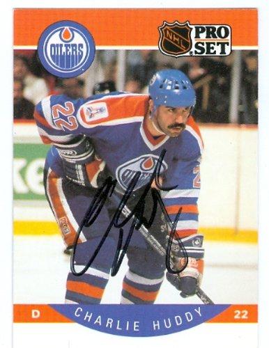 Charlie Huddy autographed Hockey Card (Edmonton Oilers) 1...