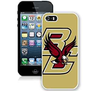 Hot Sale iPhone 5 5S Cover Case Atlantic Coast Conference ACC Footballl Boston College Eagles 7 Protective Cell Phone Hardshell Cover Case For iPhone 5 5S White Unique And Durable Designed Phone Case