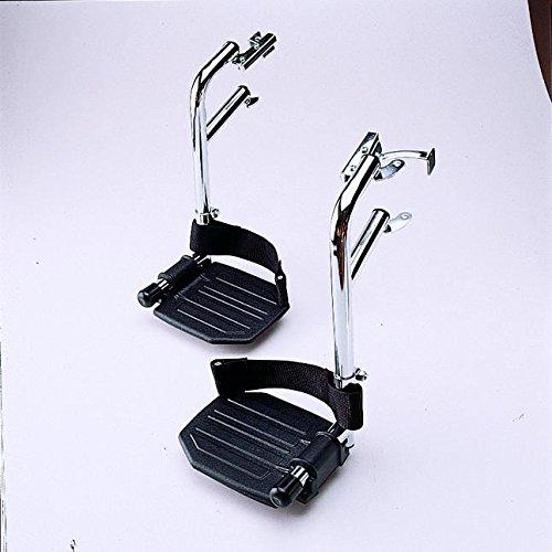 Swingaway Aluminum Footrests, 3-1/2