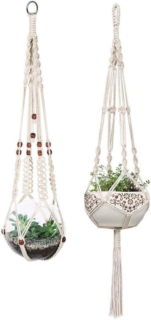 Sunnier 2 Pcs Plant Hangers Indoor Wall Hanging Planter Basket Flower Pot Holder Boho Home Decor
