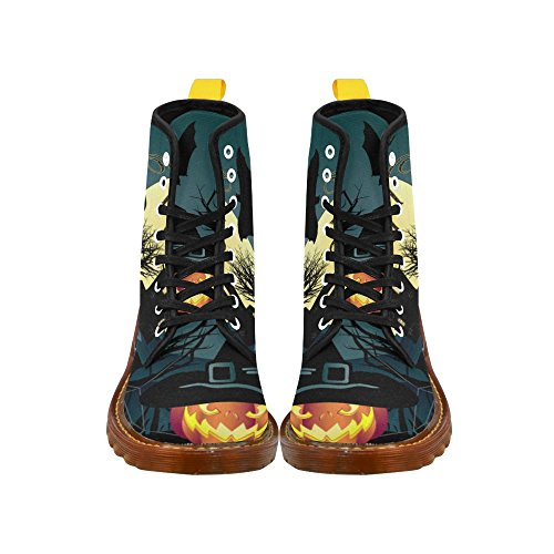D-Story Shoes Happy Halloween Pumpkin Lace Up Martin Boots For Men Halloween3 LYRqNvW9OB