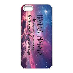 Custom High Quality WUCHAOGUI Phone case Hakuna Matata - The Lion King Protective Case For Apple Iphone 5 5S Cases - Case-8