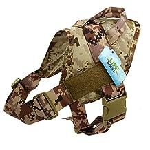 Lifeunion Nylon Patrol Waterproof Police & Service Dog Military K9 Vest Harness for Training Hiking