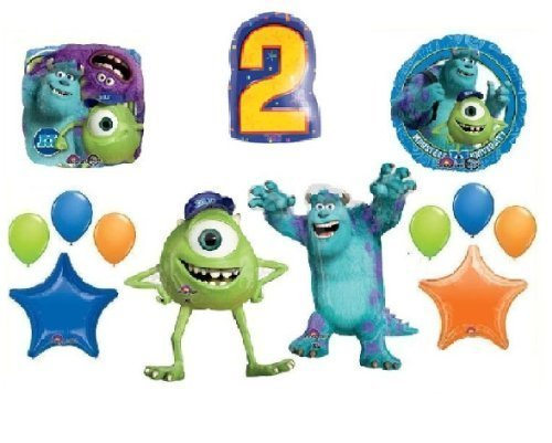 13pc 2ND BIRTHDAY MONSTERS UNIVERSITY BALLOONS mike sully party supplies SECOND (Sully Monsters)