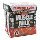 CytoSport Muscle Milk Ready-to-Drink Shake, Strawberries and Creme, 11 Ounce, Pack of 24 Review