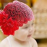 SODIAL(TM) Baby Girls Flower Headband Hairband Head Hair Band Accessories + Elastic Hat Cap
