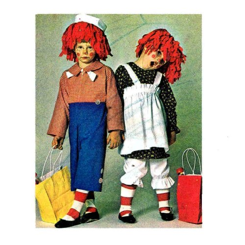 1970s (Raggedy Andy Costume Pattern)