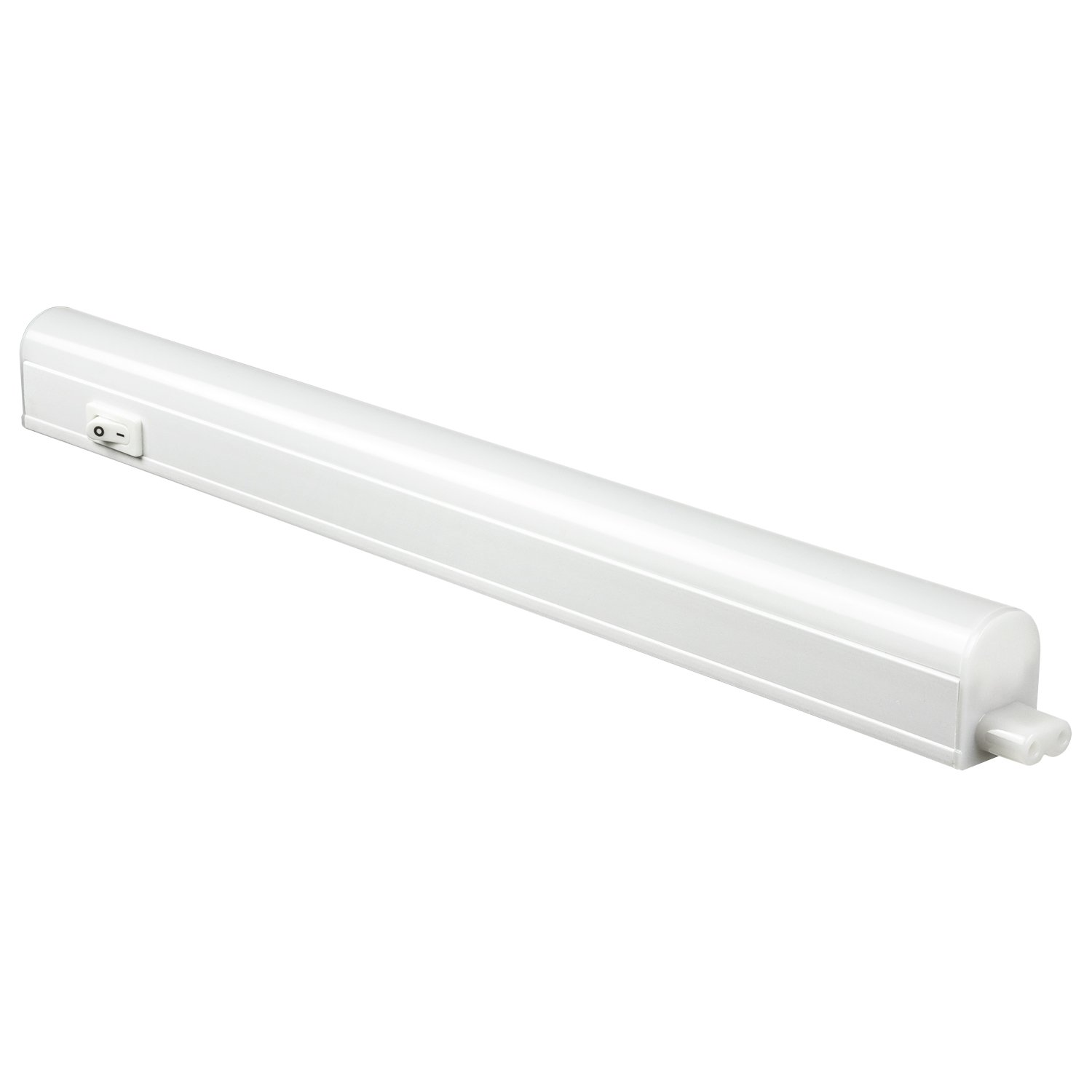 Sunlite LFX UC 12 4W 40K 4-watt 120-volt LED Linkable Under Cabinet Fixture with Plug, 12-Inch, White Finish