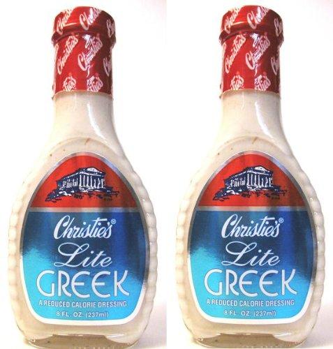 Christie's Lite Greek Dressing (Pack of 2) 8 oz Bottles