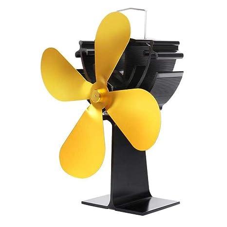 jaspenybow Ventilador de calefacción Ajustable con Calor para Estufa, bajo Consumo y Chimenea termodinámica de