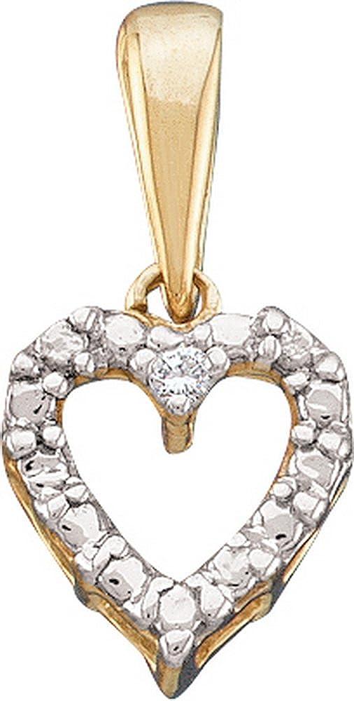 0.01CTW ROUND DIAMOND HEART LADIES PENDANT