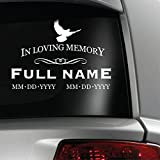 Personalized In Loving Memory Dove Decal Sticker 4x6
