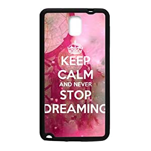 Keep Calm And Never Stop Dreaming Black Samsung Galaxy Note3 Case