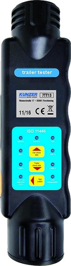 Kunzer 7tt13 Hand Prüfgerät Trailer Tester Für Fehleridentifikation Bei 13 Poligen Steckern An Anhängern Und Pkw Auto