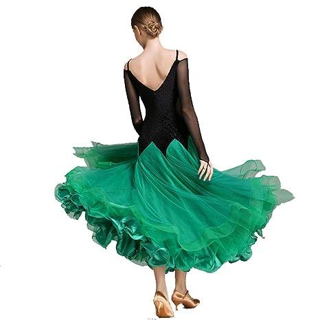 TFF El Baile De Salón Vestido De La Competencia Grande Swing Falda ...