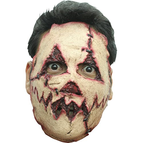 Ghoulish Carved Face Serial Killer Halloween (Scary Gas Mask Costume)