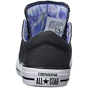 Converse Women's Madison Utility Chambray Low Top Sneaker, Black/White/Black, 8 M US