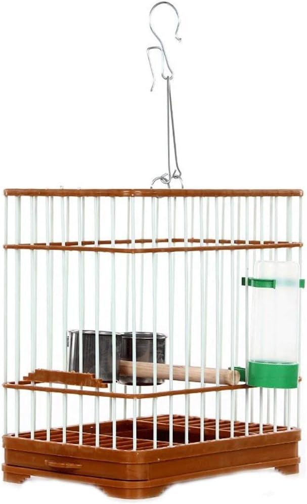 ZYLBDNB Jaulas para pájaros Grandes Artículos para Mascotas Jaula de Techo Cuadrada Jaula de pájaros, marrón jaulas para pájaros jilgueros