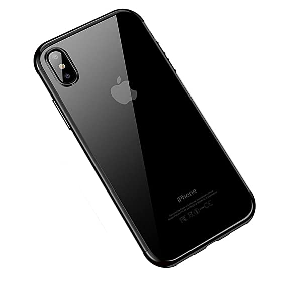 buy online c59e9 397c6 shrimp iPhone X Case,iPhone X Clear Case, Slim Fit Crystal HD Clear  Transparent Case Soft TPU Gel Flexible Bumper Shockproof Electroplate  Protection ...