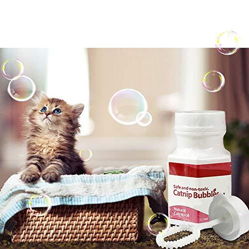 Alamana 17.7ml Natural Liquid Catnip Bubbles Oil Cool Pet Cat Kitten Interactive Toys