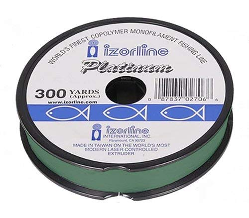 Izorline Platinum Co-Polymer Monofilament Green Fishing Line – 300Yd Spool