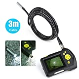 Inspection Camera, Crenova iScope Digital Waterproof Handheld Endoscope Borescope Inspection Camera Snake Camera with 2.7 inch Screen Monitor and 3 meter Cable