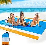 """Beach Blanket Sandproof Beach Mat Outdoor Picnic Blankets 79"""" X 55""""/ 79''×83'' Water"""