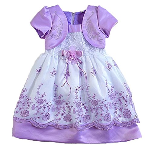 Kids Showtime Little Girl Baby Special Occasion Flower Cotton Dress(Light - Canada Will Ship To Usps