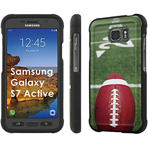 AT&T [Galaxy S7 Active] [5.1 Screen] Armor Case [NakedShield] [Black] Total Armor Protection [Shell Snap] + [Screen Protector] Phone Case - [Football Field] for Sales