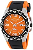 Tommy Bahama RELAX Men's RLX1154 Reef Guard Diving Bezel Orange Dial Polyurethane Watch, Watch Central