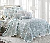 Lancaster Twin Cotton Quilt Set, Spa, White, Paisley