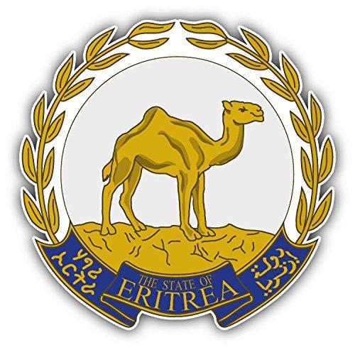 (Eritrea Coat Of Arms Vinyl Decal Bumper Sticker 5'' X)