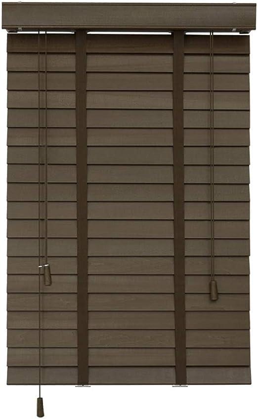 CHAXIA Persianas Venecianas Enrollable Romanas Sala Aislamiento Térmico Protector Solar Madera Maciza Ancho De La Hoja 3.5cm 2 Colores, Multi-tamaño, Personalizable (Color : A, Size : 80x160cm): Amazon.es: Hogar