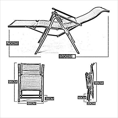 SGSG Camping Chairs Garden Loungers Folding Chair home office chair Happy lazy siesta recliner beach chair backrest (Color, B),A B
