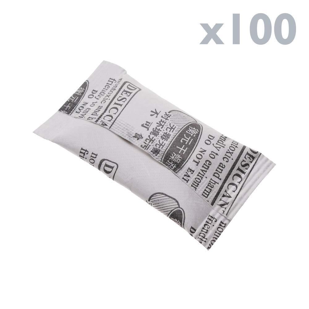 Cablematic Sacchetto deumidificatore essiccante di Gel di silice Silica 25x50mm 2g 100 Pack