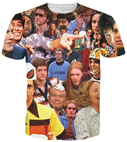 Chiclook Cool Fashion Summer 3D T Shirts That 70s Show Casual Round Neck Camisetas Tops Tees T-Shirt