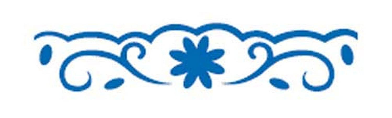 Artemio-5 cm-Punzone decorativo per bordi, motivo floreale, colore: blu VIHCP503