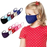 Massimiliano Incas 10 PCS Fashion Cotton Fabric Face Bandanas Reusable Washable for Kids Elastic Ear Loop Breathable for Children Girl Boy (10PC Multicolor)