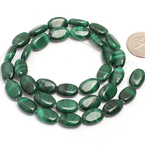 Malachite Beads for Jewelry Making Natural Gemstone Semi Precious 8x12mm Oval AAA Grade 15