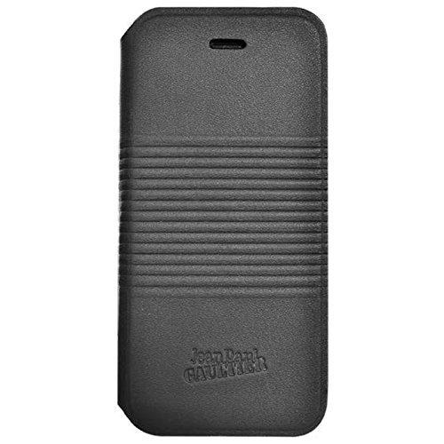 JEAN PAUL GAULTIER aufklappbare Schutzhülle in Metall-Optik für iPhone 6 - schwarz