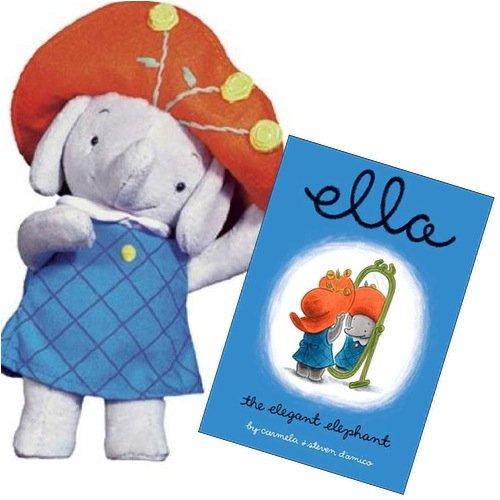 Ella the Elegant Elephant Book with Plush Ella Character