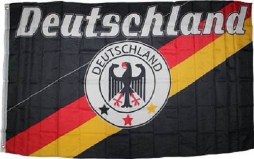 ALBATROS 3 ft x 5 ft ft German Deutsch Deutschland Eagle Flag Rough Tex Knitted Banner for Home and Parades, Official Party, All Weather Indoors Outdoors
