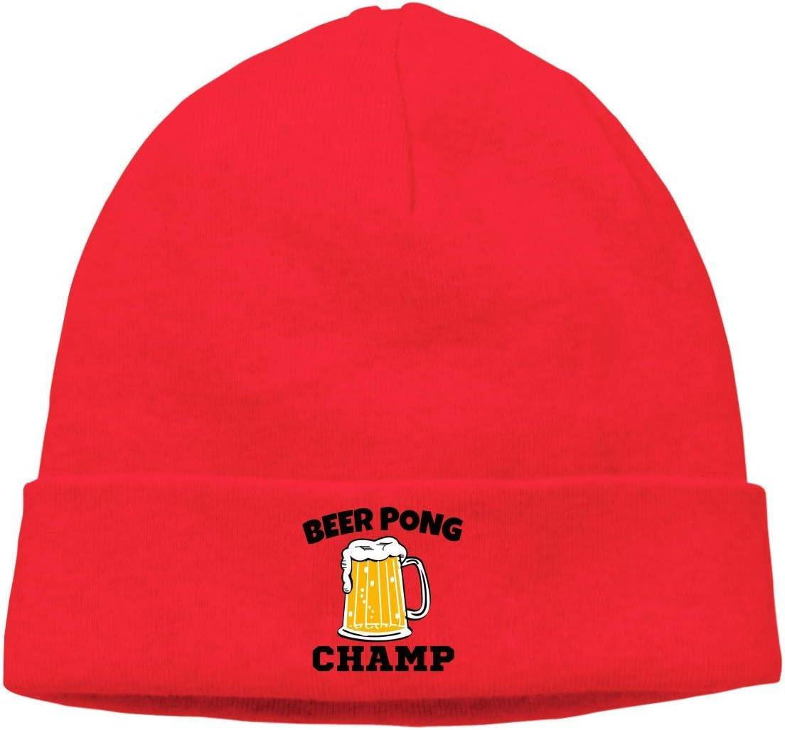 hgdfhfgd Gorra de Calavera para Adultos Beanie Beer Pong Champ Gorro de Punto Sombreros Sombreros Invierno cálido Hip-Hop Sombrero Mantener Caliente 2228