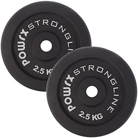 Weight Plates Black A Pair Of Cast Iron Weight Discs 30mm Hole