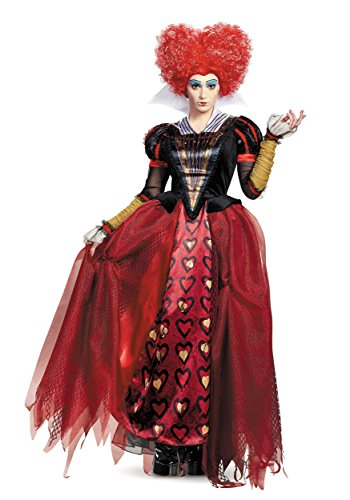 Alice In Wonderland Queen Of Hearts Costume (Disney Women's Alice Queen Deluxe Costume, Red, X-Large)